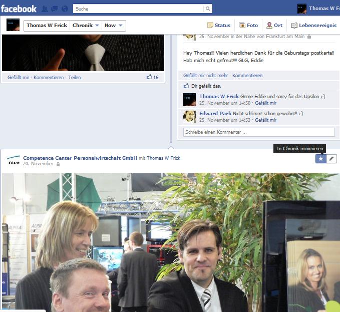 Facebook Chronik Highlights