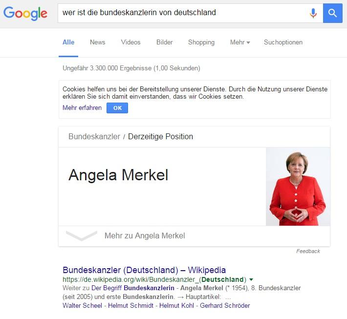 Google Bundeskanzlerin
