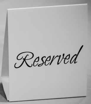 reserviertschild